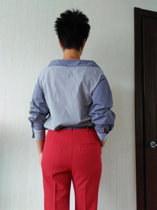 Новая рубашка в полоску h&m - Фото 3