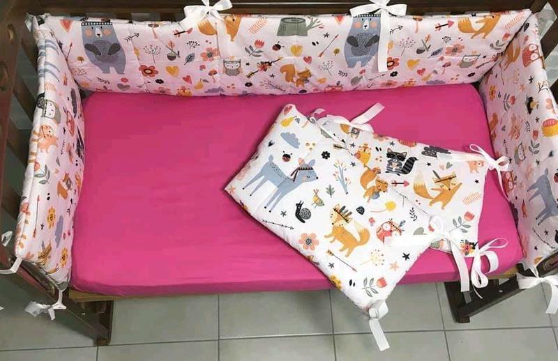 Набор простыней защита для кроватки - Фото 3