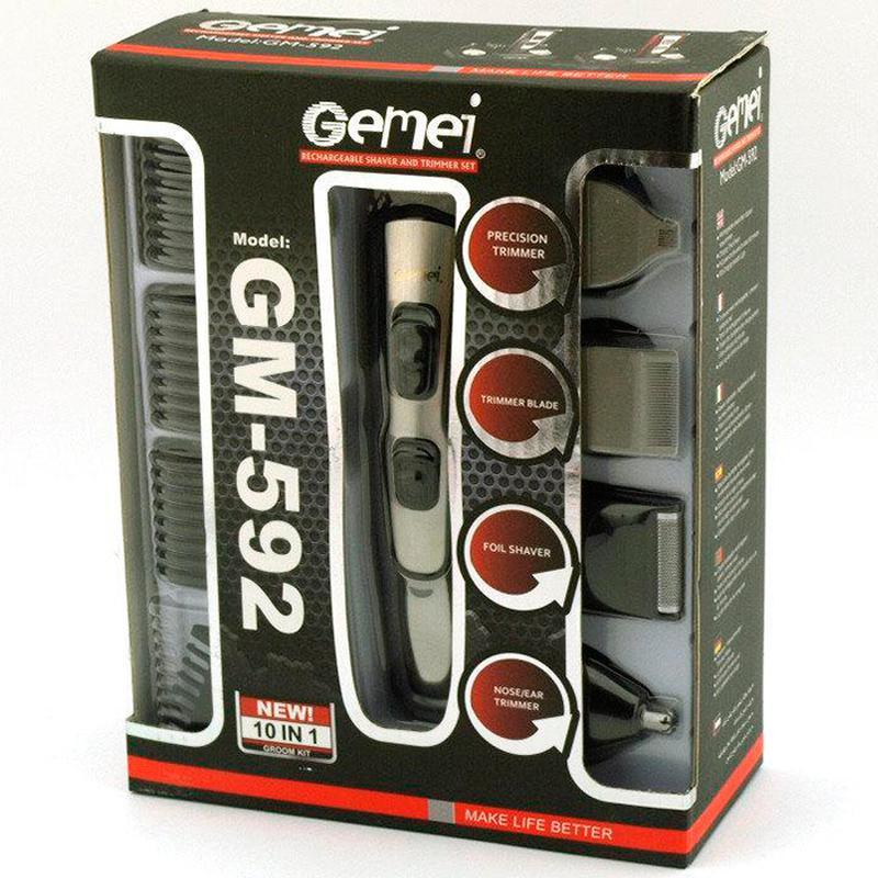 Машинка для стрижки 10 в 1 Gemei GM-592 - Фото 10