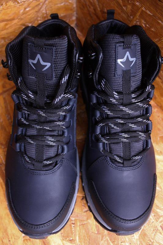Ботинки мужские демисезонные спортивные натуральная кожа Mida - Фото 4