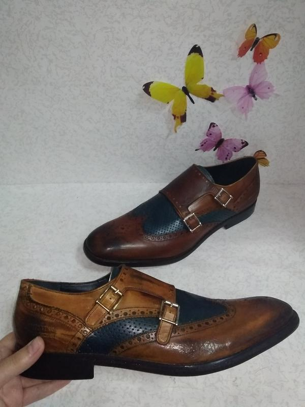 Кожаные туфли броги дерби монты melvin&hamilton (мелвин энд ха...