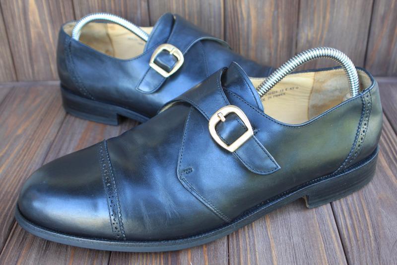 Туфли bally кожа сделаны во франции 43р лоферы монки