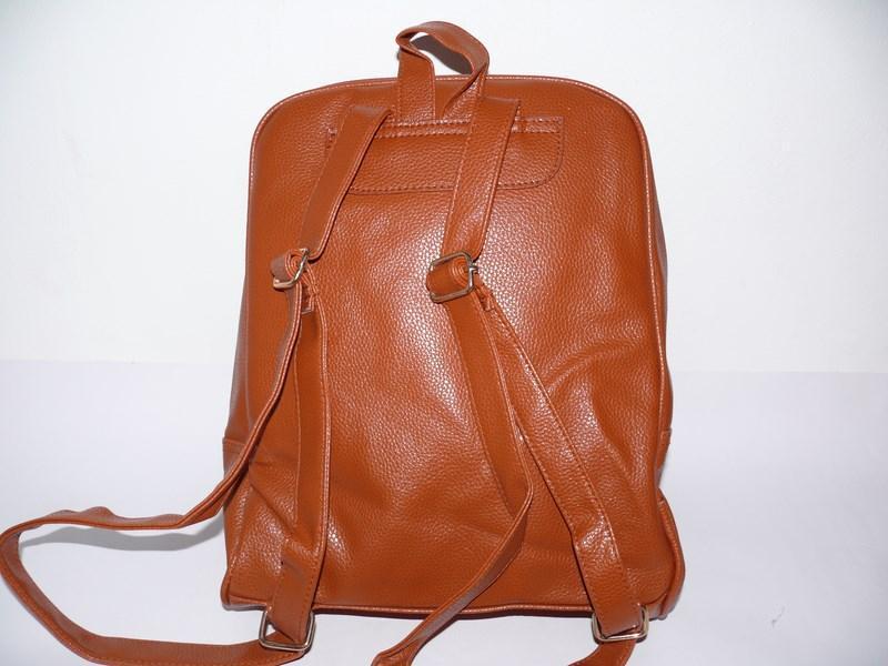 Рюкзак молодежный рыжий - Фото 2