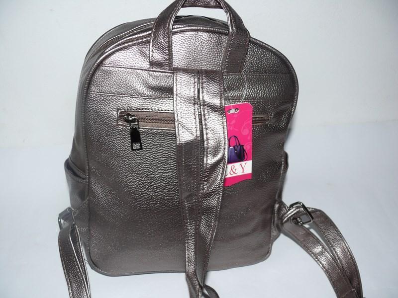 Рюкзак молодежный серебро - Фото 2