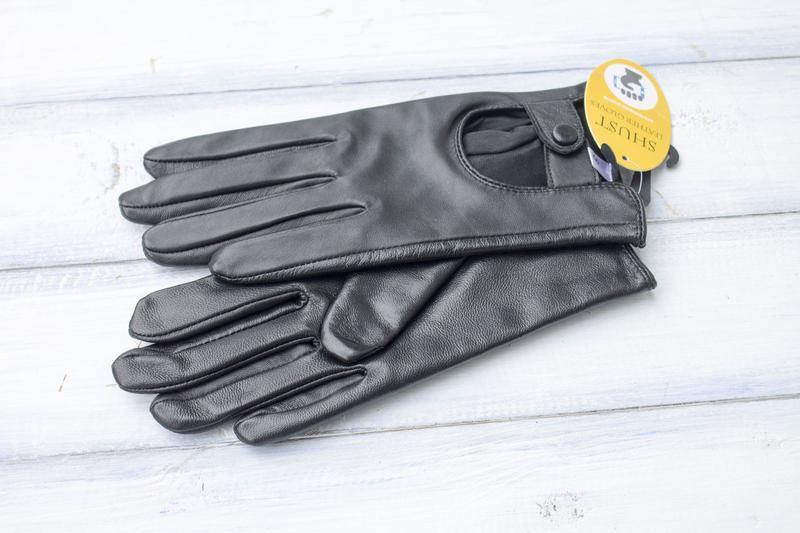 Женские кожаные перчатки сенсорные - Фото 4