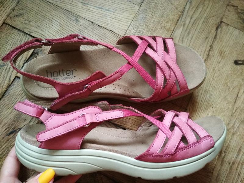 Кожаные босоножки hotter шкіряні босоніжки сандалі сандалии