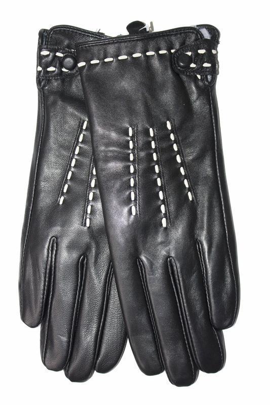 Женские кожаные перчатки сенсорные - Фото 2