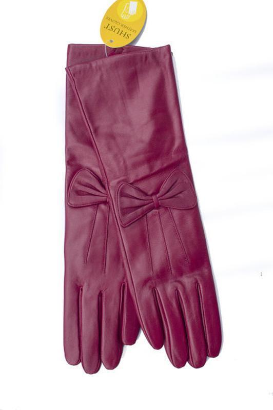 Женские кожаные перчатки 34см