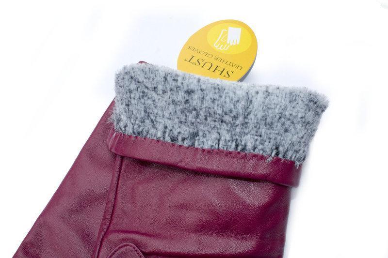 Женские кожаные перчатки 34см - Фото 3