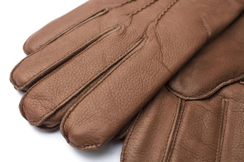 Кожаные мужские перчатки - Фото 2