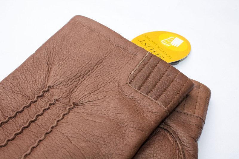 Кожаные мужские перчатки - Фото 4