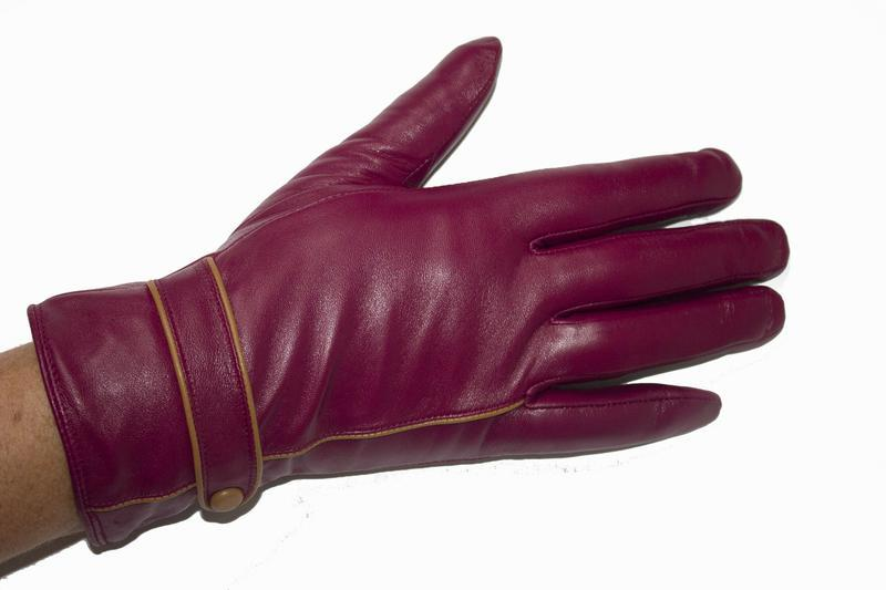 Женские кожаные перчатки - Фото 3