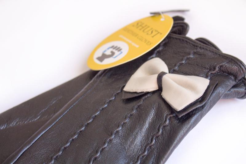 Женские кожаные перчатки - Фото 4