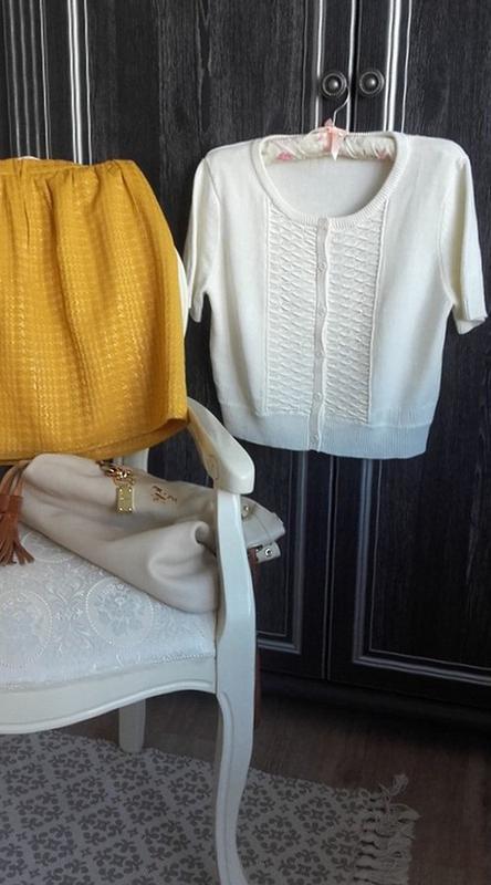Розпродаж!мастхев кроп-свитер кардиган ажурной вязки/h&м/корот... - Фото 2