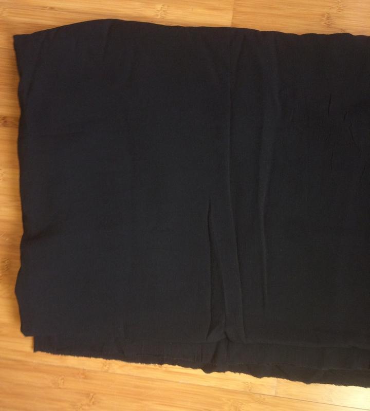материал, ткань шелк жатка черный