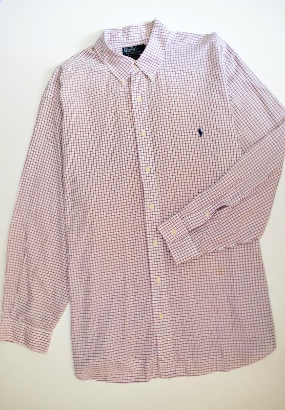 Шикарная мужская рубашка в клетку длинный рукав, polo ralph la...
