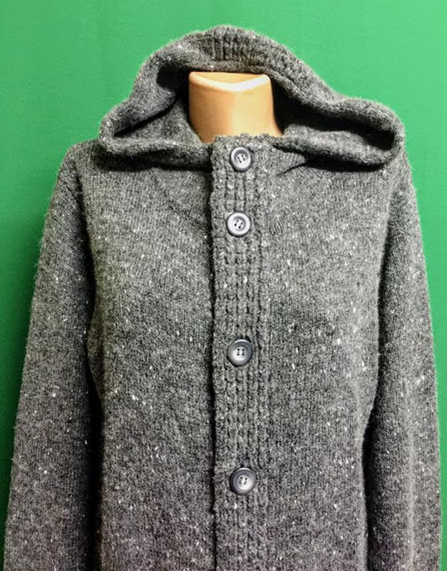Тёплая длинная кофта унисекс с капюшоном бренда topman - Фото 2