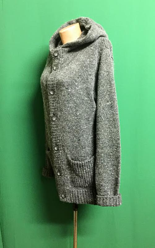 Тёплая длинная кофта унисекс с капюшоном бренда topman - Фото 3