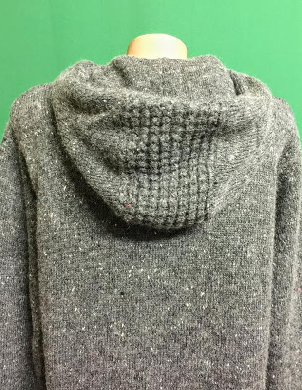 Тёплая длинная кофта унисекс с капюшоном бренда topman - Фото 5
