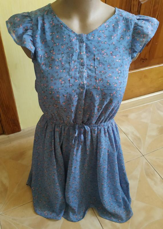 Невероятно нежно и утонченное платье в мелкий цветочек в пасте...