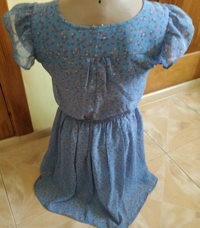 Невероятно нежно и утонченное платье в мелкий цветочек в пасте... - Фото 2
