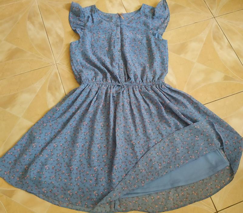 Невероятно нежно и утонченное платье в мелкий цветочек в пасте... - Фото 3