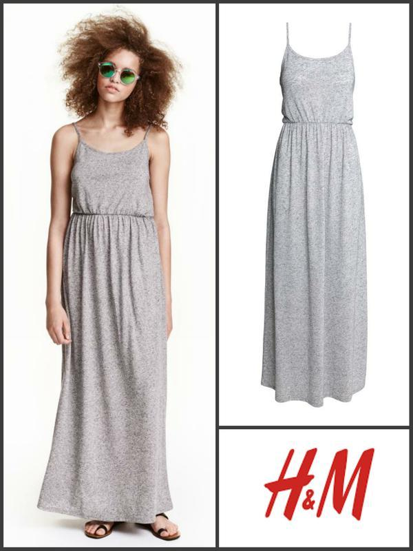Летнее платье сарафан макси xs от h&m
