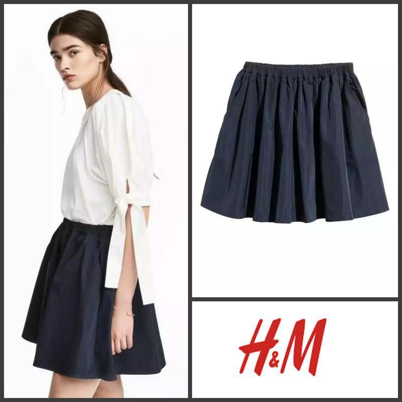 Юбка юбочка спідниця спідничка пышная синяя с карманами от h&m