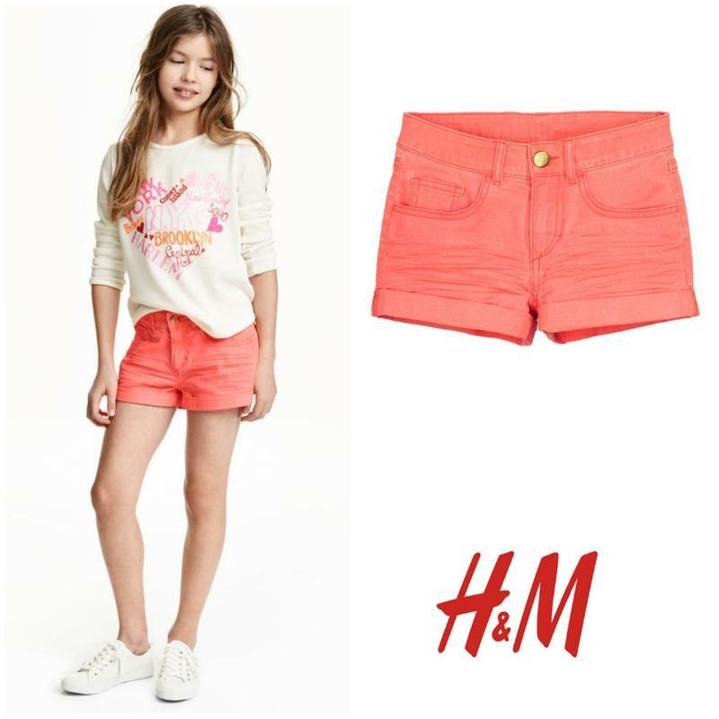 Короткие котоновые шорты хлопок шортики от h&m