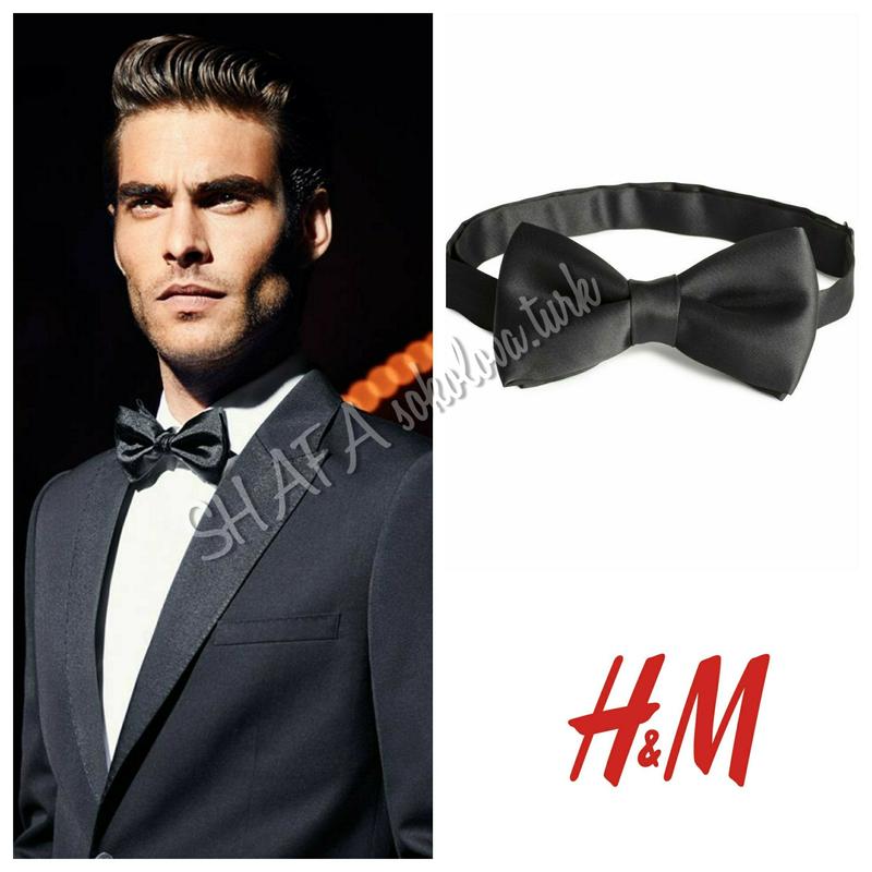 Атласный галстук бабочка краватка метелик от h&m