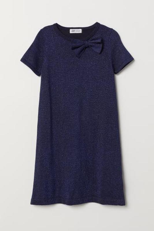 Вязаное платье с серебристой нитью от h&m