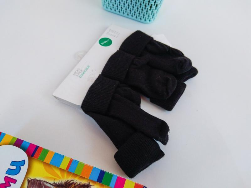 Комплект 3шт носки носочки шкарпетки хлопок бавовна от h&m