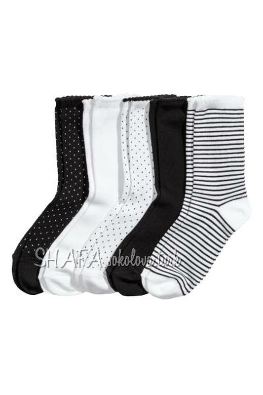Комплект 5 пар носки носочки хлопок от h&m