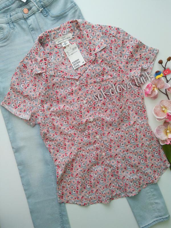 Рубашка сорочка хлопок бавовна от h&m