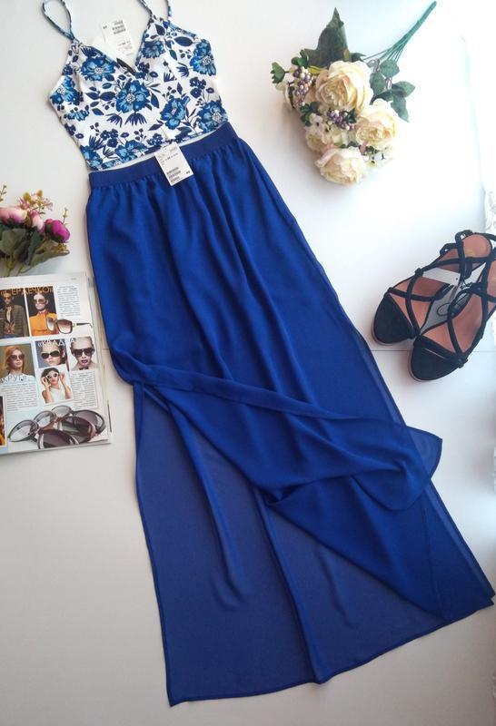 Длинная прозрачная юбка спідниця макси от h&m