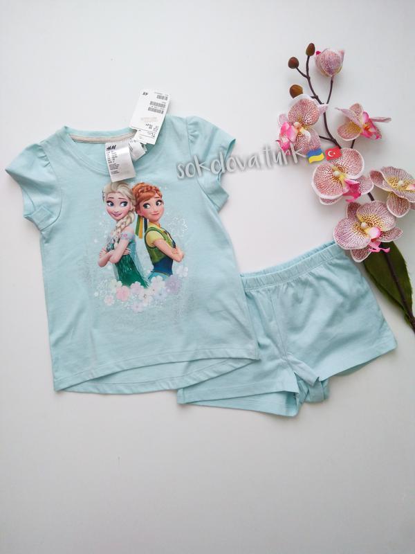 Комплект шорты футболка холодное сердце хлопок от h&m