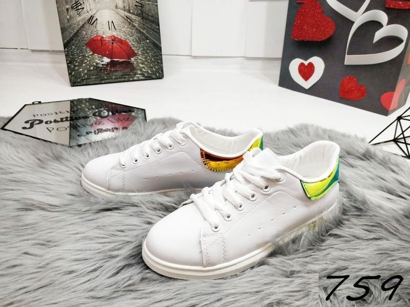Красивенные белые кеды распродажа - Фото 2