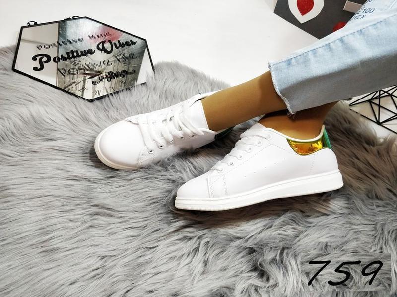 Красивенные белые кеды распродажа - Фото 3