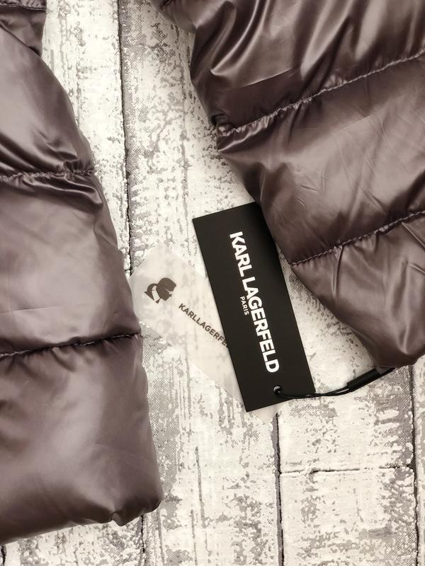 Крутой лёгкий пуховик Karl Lagerfeld Paris, р. 40 - Фото 3