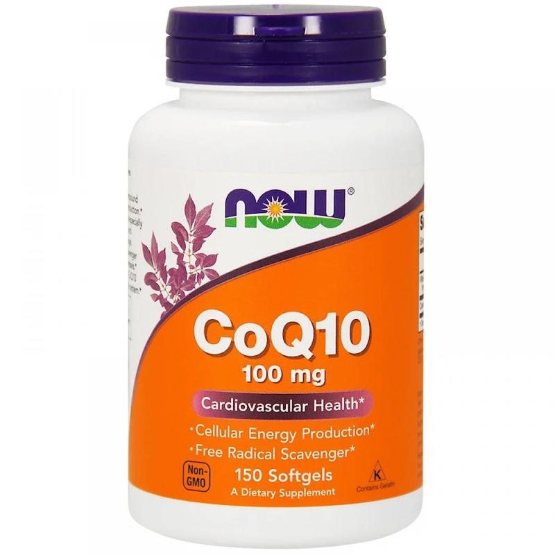 NOW Foods, Коэнзим Q10, 100 мг, 150 вегетарианских капсул