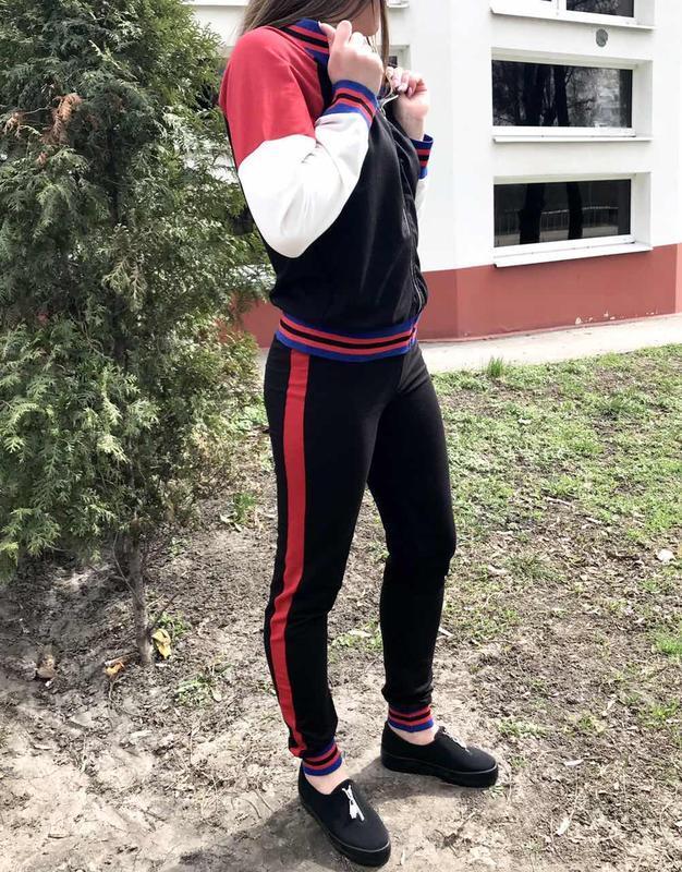 Костюм женский спорт-шик dem-ro черный - Фото 2