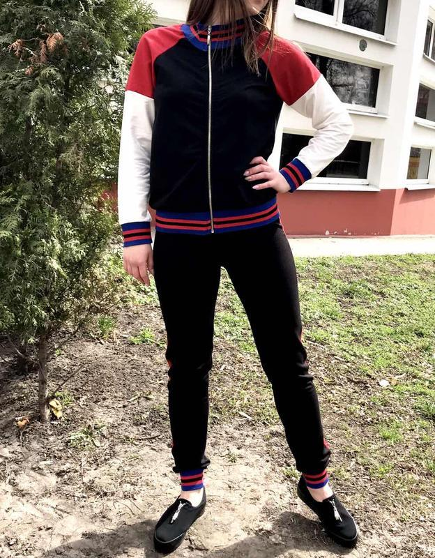 Костюм женский спорт-шик dem-ro черный - Фото 3