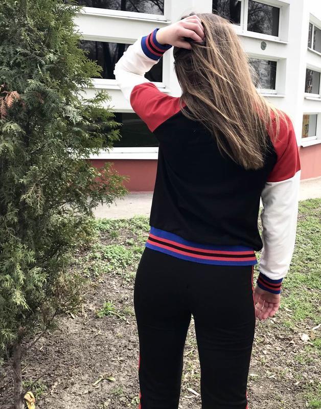 Костюм женский спорт-шик dem-ro черный - Фото 4