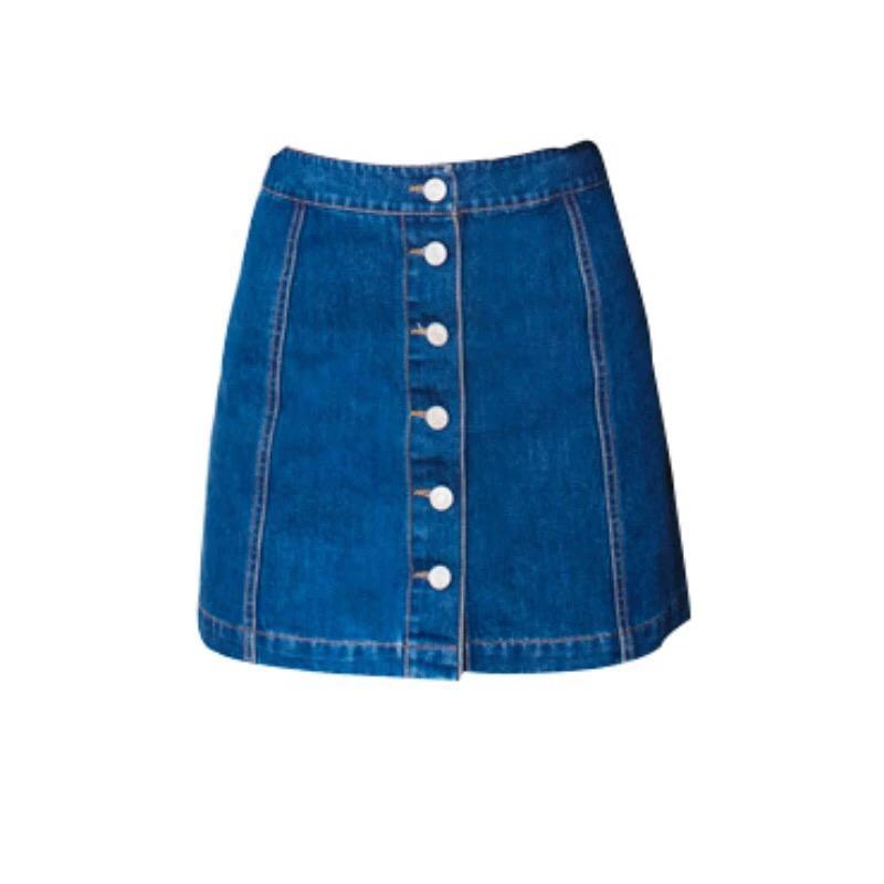 Юбка джинсовая на пуговицах