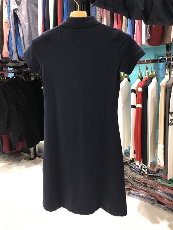 Платье поло женское темно синее tommy - Фото 4