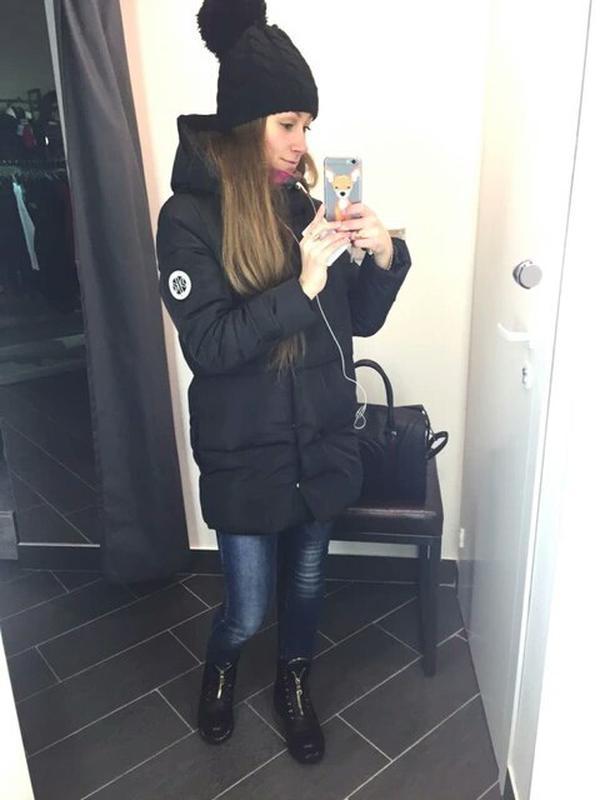 Куртка парка на пуху (черная)