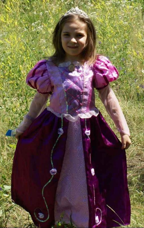 Карнавальное платье рапунцель, от 4 до 9 лет