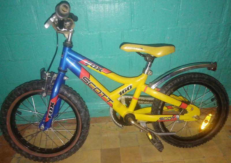 Фирменный велосипед Scott FOX-160 для 4-7 лет привез сШвейцарии