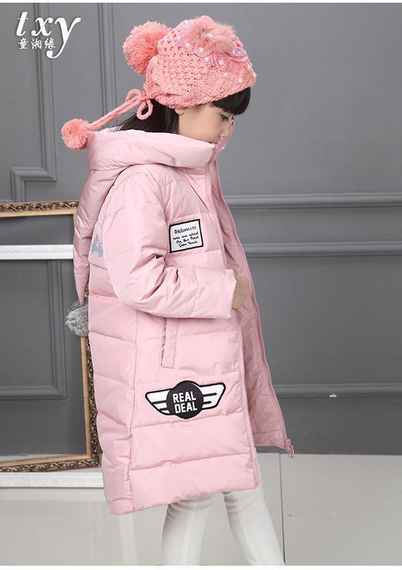 Распродажа стильный пуховик для девочки - Фото 2