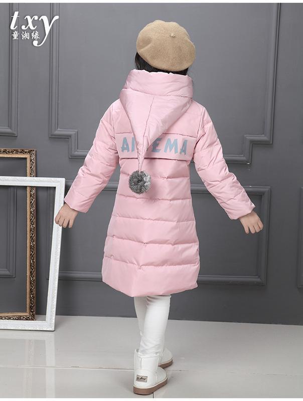 Распродажа стильный пуховик для девочки - Фото 3